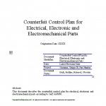 AS6081 Counterfeit Control Plan