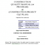 CQC Construction Quality Control Software Plan