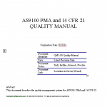 FAA PMA AS9100 Quality Manual