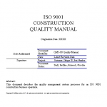 ISO 9001 Design-Build Construction Quality Manual